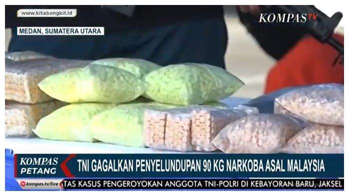 TNI AL Gagalkan Penyelundupan 92,512 Kg Sabu dan 61.378 Butir Pil Ekstasi dari Malaysia