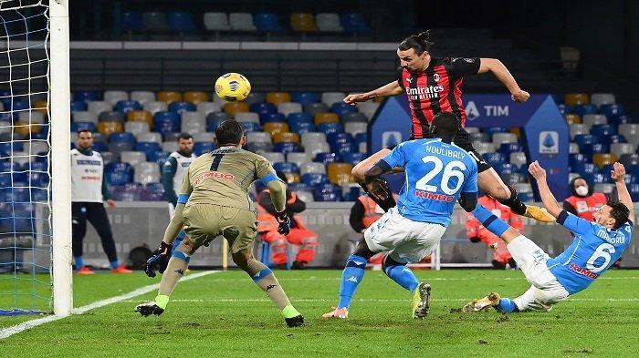 Hasil Liga Italia - Napoli vs AC Milan, Bonera Tanggapi Kemenangan Rossoneri & Cedera Ibrahimovic