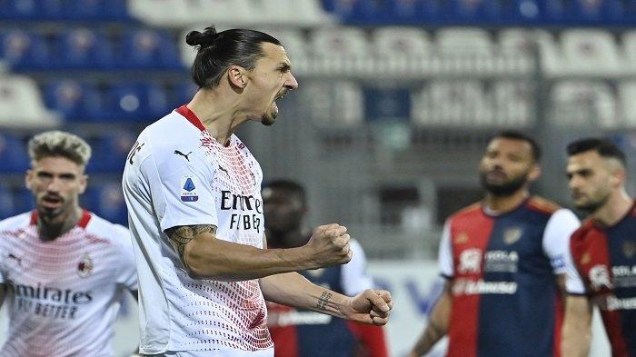 Catatan Luar Biasa Zlatan Ibrahimovic Bersama AC Milan: Kontribusi 13 Gol dalam 8 Laga Saja