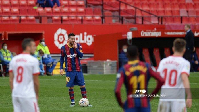 HASIL LIGA SPANYOL: Barcelona Permalukan Sevilla, Tembus Posisi Kedua, Messi Kokoh Pimpin Top Skor