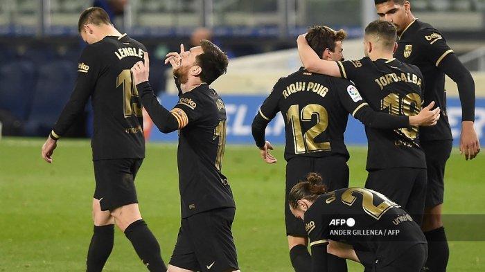 HASIL LIGA SPANYOL - Barcelona Akhirnya Sadis Lagi, Bantai Sociedad 6 -1, Messi Ukir Rekor Baru
