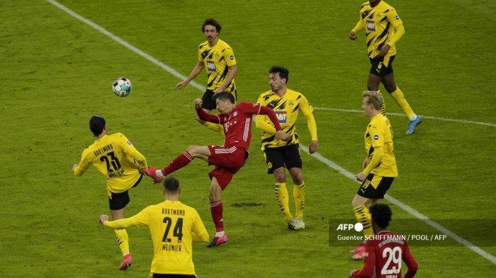 HASIL BUNDESLIGA: Comeback dalam 2 Menit, Bayern Munchen Hajar Dortmund 4-2, Lewandowski Hattrick