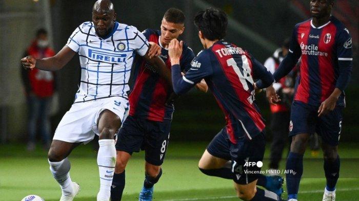 BABAK PERTAMA Liga Italia - Rekor Baru Romelu Lukaku seusai Bawa Inter Milan Unggul 0-1 atas Bologna