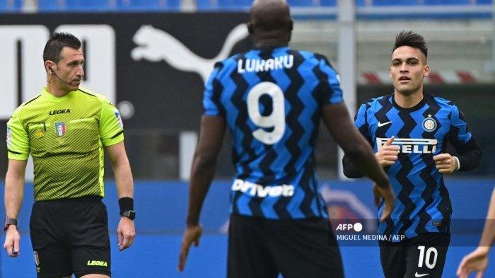 Hasil Liga Italia Inter Vs Milan Duet Lukaku-Lautaro Acak-acak Lawan, Baru 5 Menit Sudah Cetak Gol