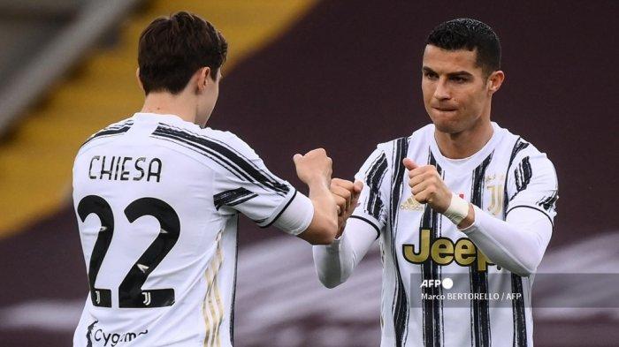 BABAK PERTAMA Liga Italia - Ronaldo Mandul, Chiesa Cetak Gol, Torino Imbangi Juventus 1-1