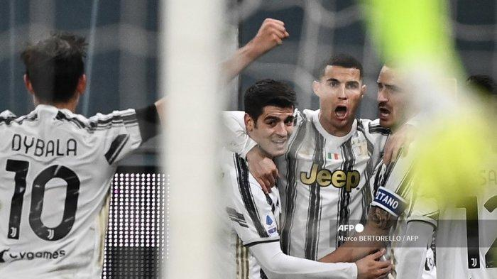 SUSUNAN PEMAIN & Link Live Streaming Napoli vs Juventus di RCTI, Ronaldo-Morata Andalan Pirlo