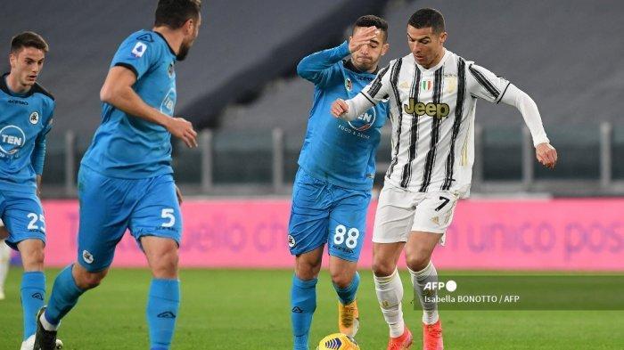 HASIL Juventus vs Spezia Babak 1 Liga Italia: Gol Chiesa Dianulir, Ronaldo Irit Tembakan, Skor 0-0