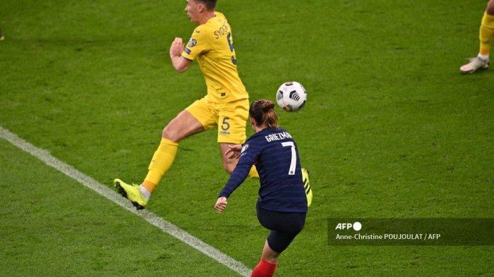 HASIL Babak Pertama Prancis vs Ukraina Kualifikasi Piala Dunia 2022, Griezmaan Bawa Les Blues Unggul