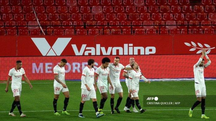 SUSUNAN PEMAIN & Live Score Hasil Sevilla vs Barcelona Cpa Del Rey, Papu Gomez Starter