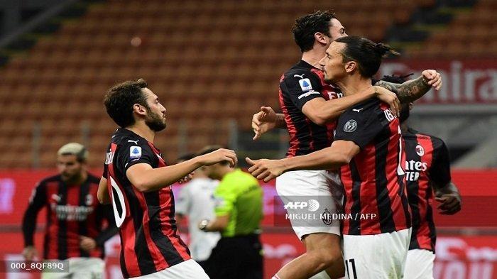 Susunan Pemain & Live Streaming Napoli vs AC Milan, Ibrahimovic & Calhanoglu Starter, Rebic Kembali