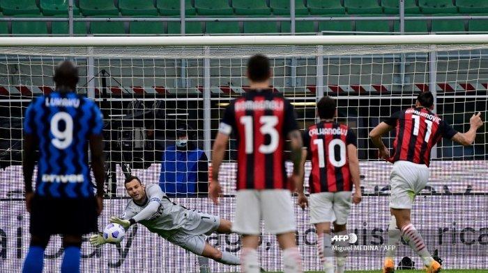 Di Balik Kemenangan Telak Inter Milan Atas AC Milan, Kiper yang Diejek Sering Bengong Bikin Rekor