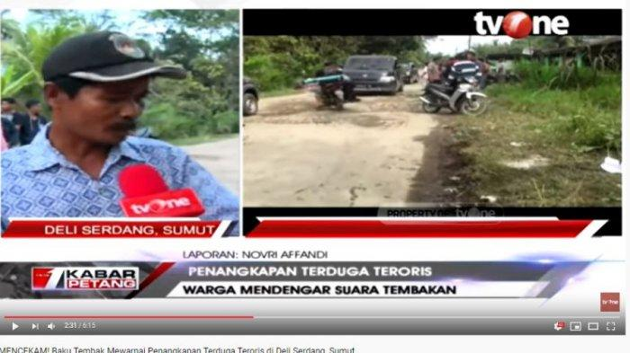 Dua Terduga Teroris di Deli Serdang Sumatera Utara di Tembak Mati Densus 88