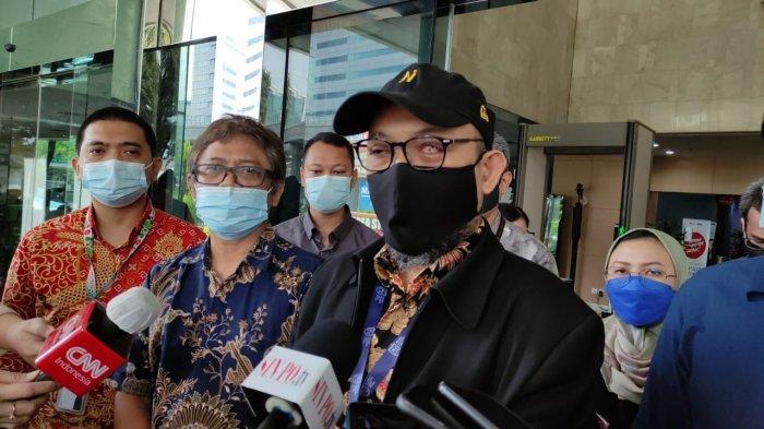 Penyidik senior KPK Novel Baswedan melaporkan para pimpinan KPK ke Dewan Pengawas KPK, Selasa (18/5/2021). (Tribunnews.com/Rizki Sandi Saputra)