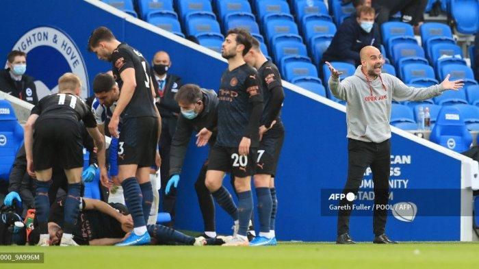 HASIL LIGA INGGRIS - Guardiola Petik Hikmah Kekalahan Manchester City yang Kena Comeback Brighton