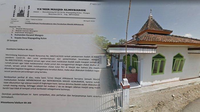 Viral Surat Pemberitahuan Perobohan Masjid di Banyumas Akibat Corona, Ini Penjelasan Perangkat Desa