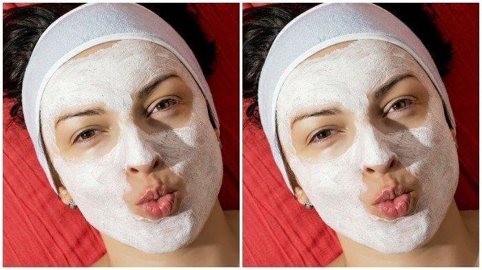 Perawatan wajah menggunkaan tepung beras agar memiliki kulit yang bersinar.
