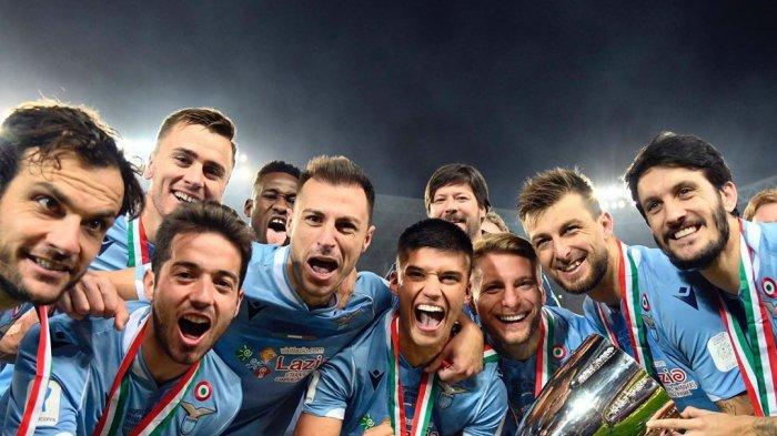 Perayaan Lazio Usai Meraih Gelar Supercoppa Italia