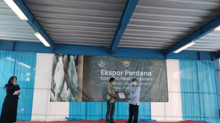 SKPT Sebatik KKP Ekspor Perdana Ikan Bandeng dan Demersal ke Malaysia
