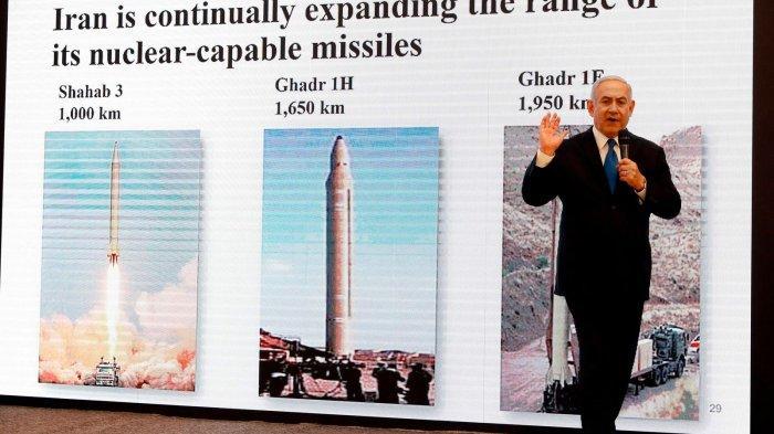 Perdana Menteri Israel Benjamin Netanyahu mengatakan dia memiliki bukti program senjata nuklir 'rahasia' Iran