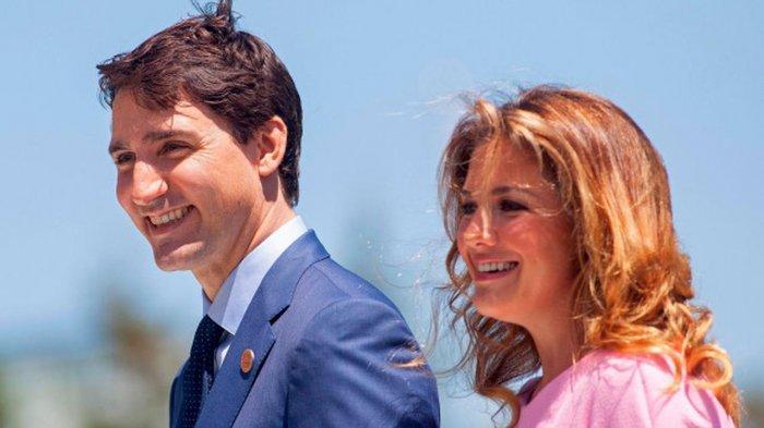 Perdana Menteri Kanada Justin Trudeau beserta istri Sophie Gregoire Trudeau.
