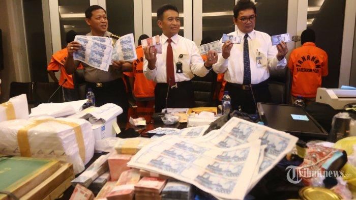 Uang Palsu Setengah Miliar Lebih Siap Diedarkan ke Kalimantan