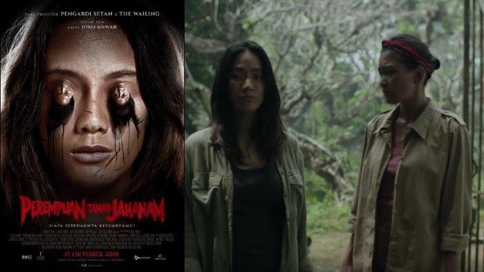 Poster dan potongan adegan dalam trailer film Perempuan Tanah Jahanam (2019).