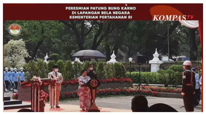 Prabowo Subianto Resmikan Patung Bung Karno, Megawati: Saya Ucapkan Terima Kasih kepada Bapak Menhan