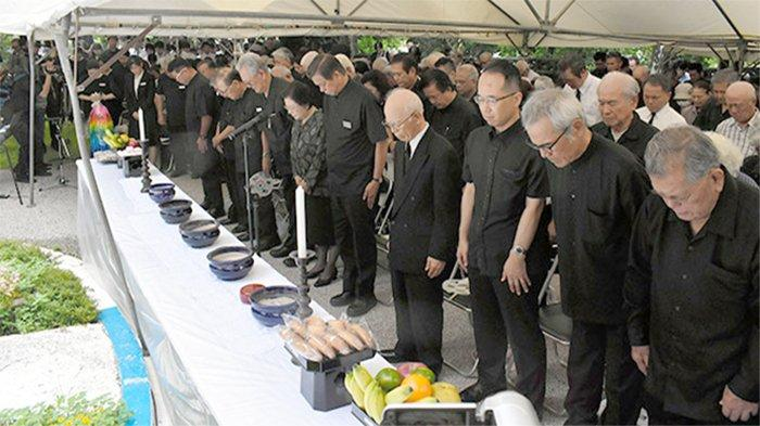 Peringatan 75 tahun  Kasus Tsushima Maru di Naha Okinawa, Kamis (22/8/2019).
