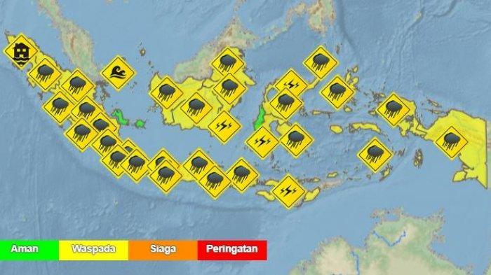 Peringatan Dini BMKG Besok Rabu 6 Januari 2021, Berikut Wilayah yang Berpotensi Alami Cuaca Ekstrem