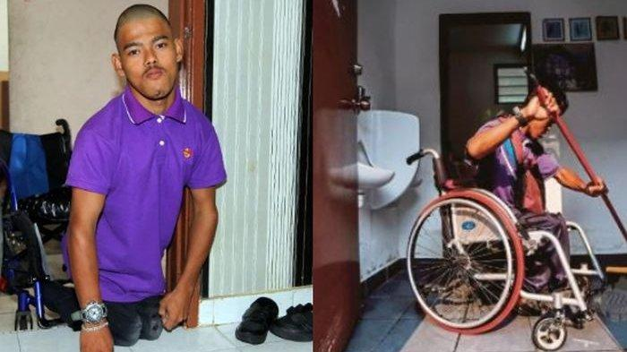 Kayuh Kursi Rodanya Sejauh 4 Kilometer Setiap Hari, Muhammad Helmi Bekerja Demi Obati Ibunya
