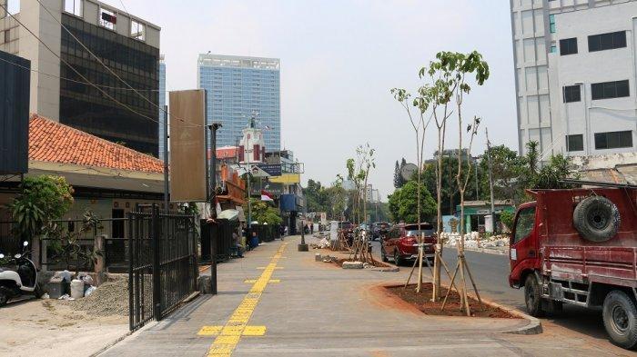 Perkembangan revitalisasi trotoar Cikini.