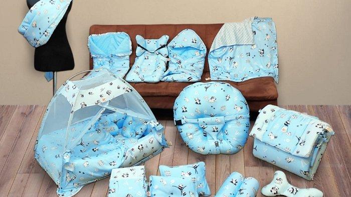 Ilustrasi perlengkapan bayi