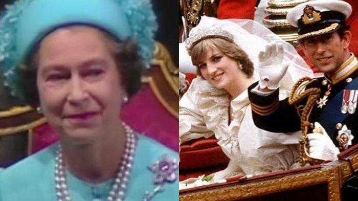 Selalu Jaga Ekspresi, Ratu Elizabeth II Terkikik saat Charles dan Diana Menikah, Ini Kata Pengamat
