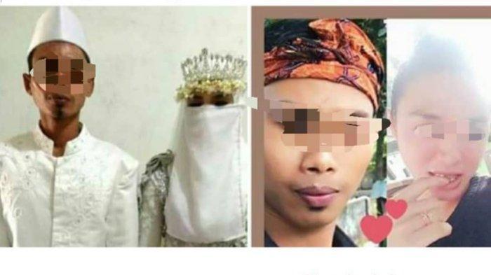 Foto diduga Muh dan Sup - Seorang pria di Lombok Barat tak tahu ternyata pengantin wanita yang ia nikahi adalah laki-laki. Ia pun curiga ketika sang istri meminta cerai.