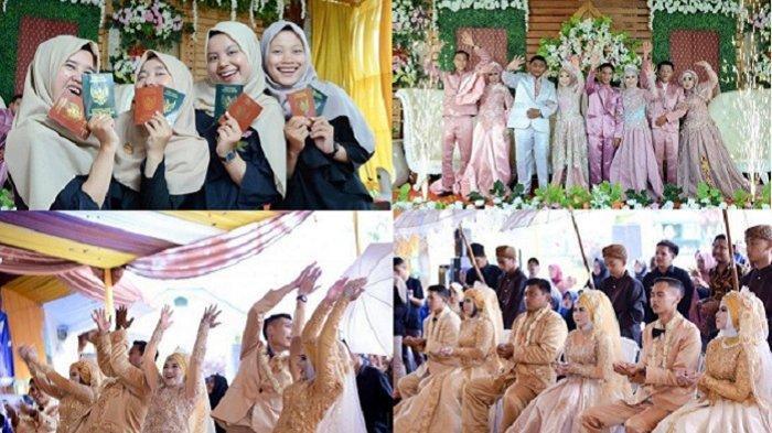Pernikahan seorang janda bersama ketiga anak gadisnya