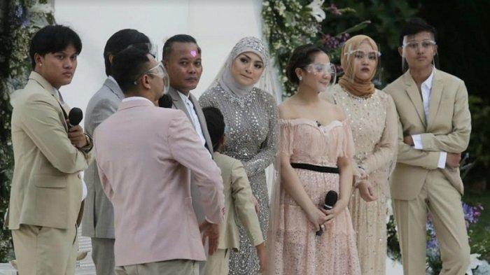 Pernikahan Sule dan Nathalie Holscher di Tsamara Resto, Jatisampurna, Bekasi, Jawa Barat, Minggu (15/11/2020).