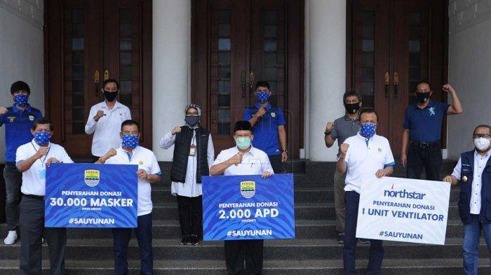 Persib Bandung Donasikan sejumlah alat medis untuk tenaga medis di Kota Bandung