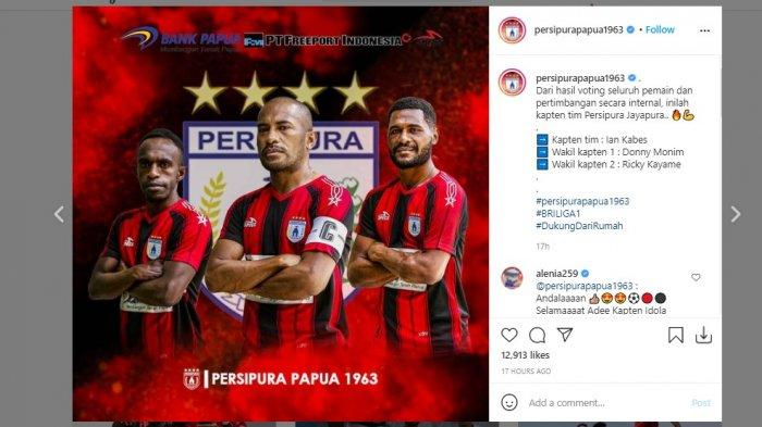 Persipura Jayapura resmi menunjuk Ian Louis Kabes sebagai kapten tim didampingi oleh Donny Monim dan Ricky Kayame sebagai wakil kapten untuk mengarungi Liga 1 BRI 2021/2022