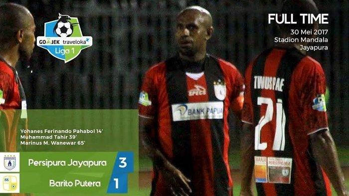 Persipura Jayapura vs Barito Putera: Persipura Menang 3-1