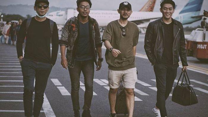 Kondisi terkini alat musik band Seventeen pasca Tsunami Banten, di Selat Sunda.
