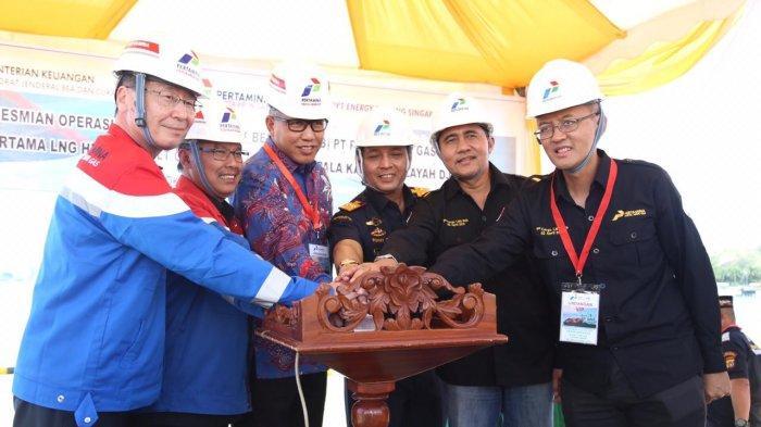 Operasional PLB Perta Arun Gas & Kedatangan 1st Kargo Arun LNG Hub Diresmikan