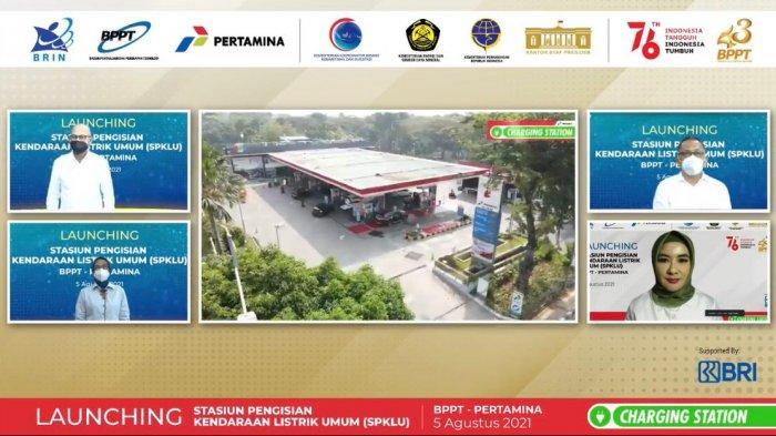 Bersinergi Untuk Energi Bersih, Pertamina & BPPT Resmikan 2 Stasiun Pengisian Kendaraan Listrik Umum