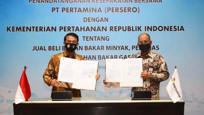 Pertamina Jamin Pasokan Energi di Lingkungan Kemenhan dan TNI