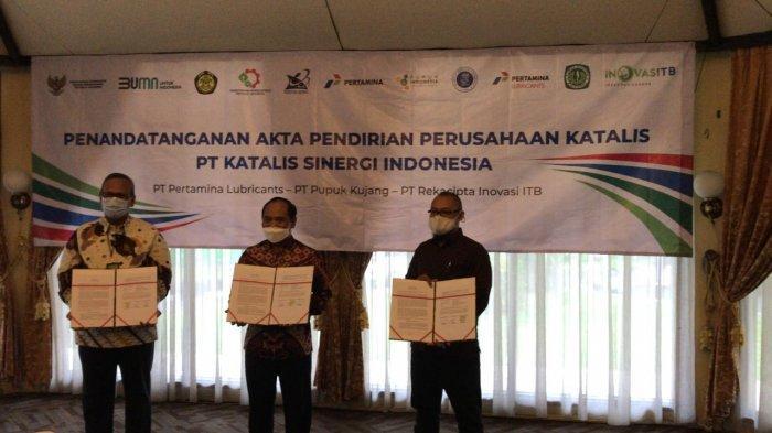 Sah, Pertamina, Pupuk Kujang, dan ITB Bentuk PT Katalis Sinergi Indonesia