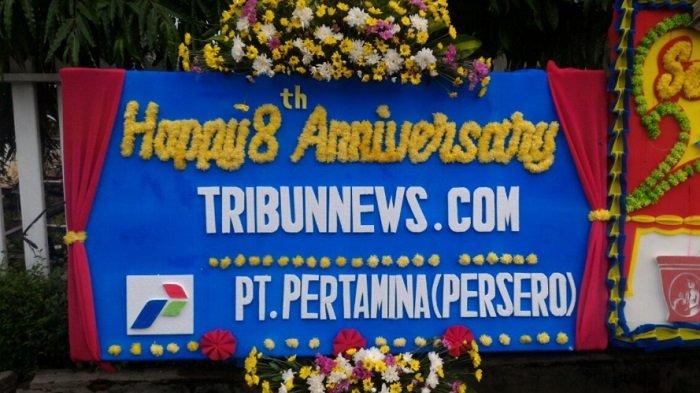 PT Pertamina (Persero) Ucapkan Selamat HUT ke-8 Tribunnews.com