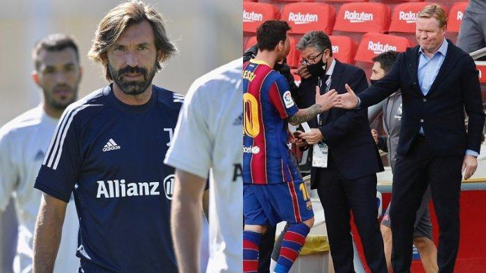 Juventus vs Barcelona Liga Champions: Komentar Pirlo-Koeman, Prediksi Skor dan Live Streaming SCTV