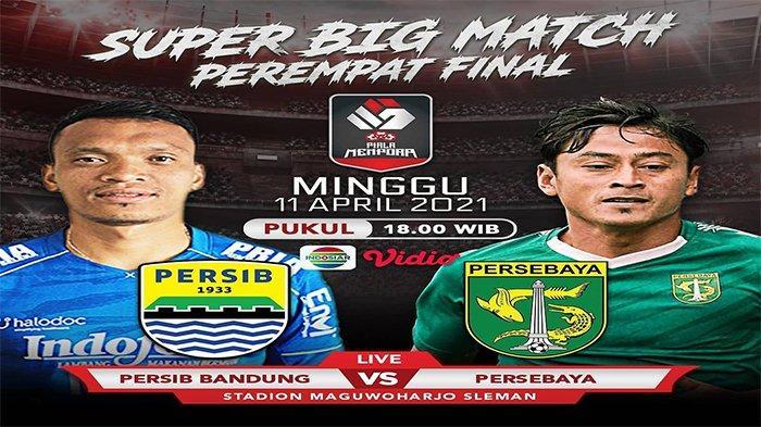 NONTON Live Streaming TV Online, Persib vs Persebaya Piala Menpora 2021, Link Indosiar di Sini