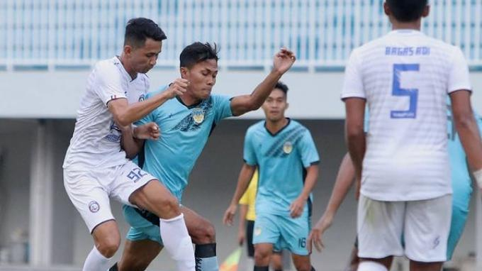 Pertandingan uji coba PSIM Yogyakarta melawan Arema FC di Stadion Mandala Krida Yogyakarta, Kamis (19/8/2021) (Dok: PSIM Yogyakarta)