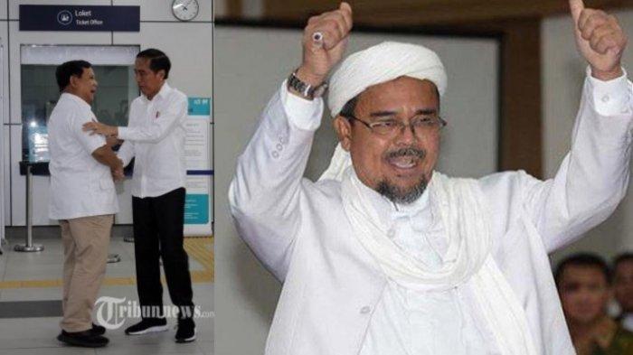 Pertemuan Jokowi-Prabowo, Pimpinan FPI Rizieq Shihab