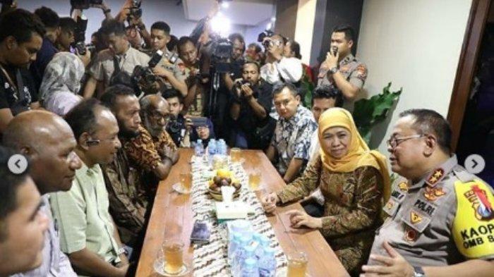 Pertemuan Khofifah, Kapolda, dan masyarakat Papua